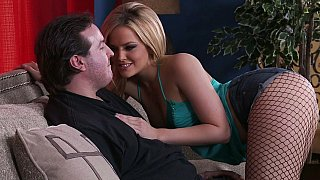 Showing his son how it's done with Pornstars