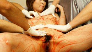 Rika Sakurai gets lots of vibrator all over her body and gives a cock sucking.
