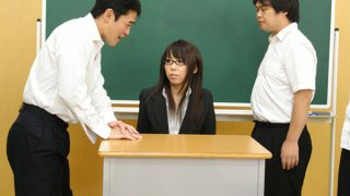 Hot teacher Maho Sawai gets rammed at school