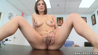 Sabrina Taylor is proud to show her boobies and a shaved pussy. Check it out!