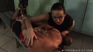 Rough sex featuring Mandy Bright and Katy Parker