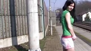 Masturbating at the train station