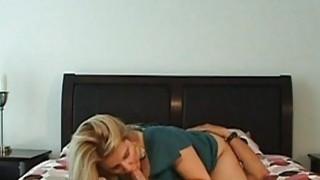 Slutty babe is pleasuring chap with wild footjob