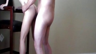 Standing fuck in heels and cum swallow