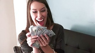 Sexy gf Kimber Lee fucked and gets payed