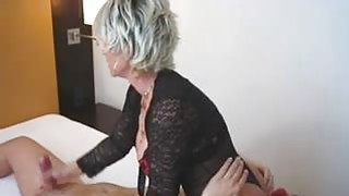 Blonde Cougar Sits on His Face