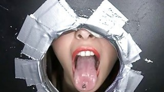 Sizzling shlong sucking from a wicked honey