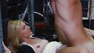 Hot blonde MILF banged by nasty pawn guy