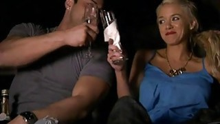 Horny sexy ladies drinking and have fun with nasty guys
