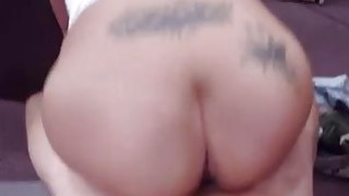 Amateur brunette huge dildo and ebony oral blowjob Big breast Latina