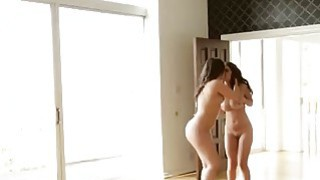 Hot babes Dillion Harper and Sinn Sage having fun with the strapon