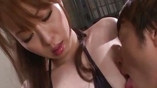 Misato Sakurai receives cock deep in her wet pussy