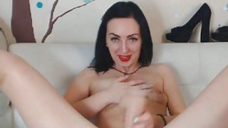 Pretty Babe Plays with Huge Toy