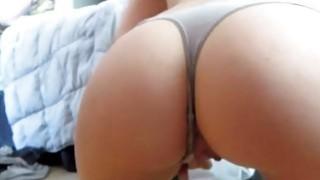 Dildo riding under the panties