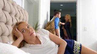 Boyfriend seduced by step mom