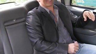 Sexy fake cab driver fucks stranger on the bonnet