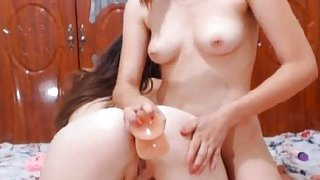 Pussy Fingering And Toying With Two Lesbian Babes