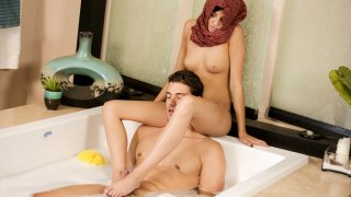 Hot Arabian teen hospitality