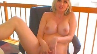Sexy Blonde Babe Suck and Fuck a Dildo on Cam