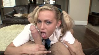 Blonde schoolgirl gets her muffin wrecked well