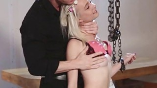 Maddy's master disciplined her by spanking her with his hands