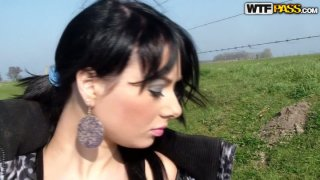 A beautiful but skanky Russian brunette fucking on cam