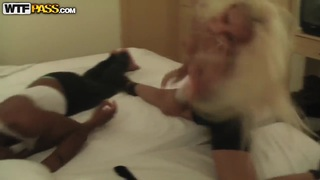 Ebony lover starts to go more hardcore way