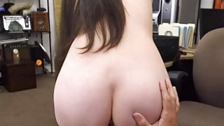 Horny cute babe spread her legs to fuck for cash