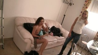 Palatable brown haired hoe Carmella gets naked on cam