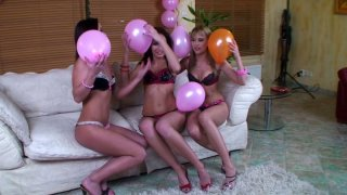 Gapolexa and Kissy give their girlfriend outstanding lesbie sex celebration