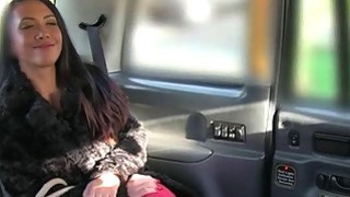 Naughty customer nailed in the backseat for a free fare