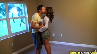 Latina milf with big natural boobs and huge ass loves to frolic with guys